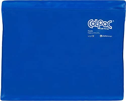 Chattanooga ColPac - Reusable Gel Ice Pack - Blue Vinyl - Neck Contour - 23 in (58 cm) - Cold Therapy for Neck, Shoulder, Upper Back for Headaches, Swelling, Bruises, Sprains, Inflammation