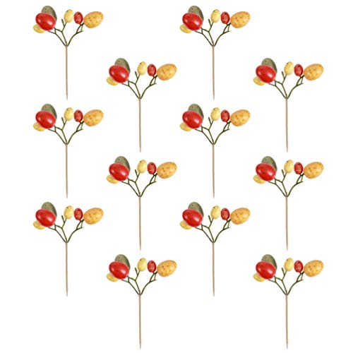Gadpiparty 12Pcs Easter Eggs Tree Branches Bouquet Foam Easter Flower Picks Artificial Eggs Stem Picks Easter Egg Tree Ornaments for DIY Vase Easter Spring Party Supplies