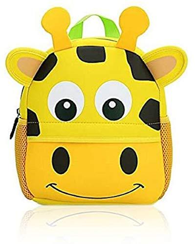 OFKPO Kinder Rucksack,Wasserdicht Schultasche Karikatur Tier Kindergarten Tasche für Kinder Jungen Mädchen Kleinkind 1-6 Alter(Giraffe)