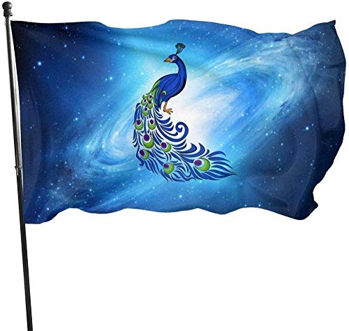 maichengxuan Garden Flagge Sign Outdoor Party Indoor Banner 3x5 FT Peacock Clipart Banner Flagge for Inside/Outside