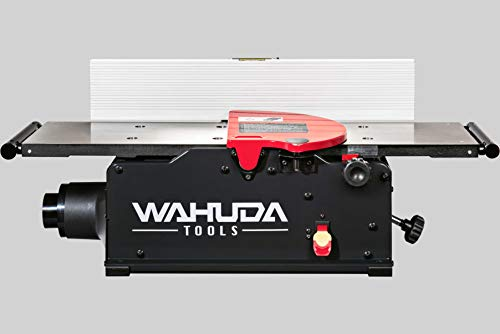 Wahuda Tools 50180CC-WHD (8 inch) Bench Top Spiral Cutterhead Jointer with Cast Iron table & 4 sided Carbide tips installed