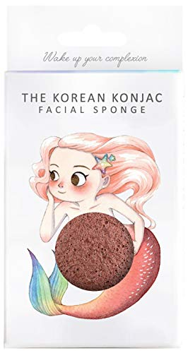 The Konjac Sponge Co éponge visage, rouge – 1 unité