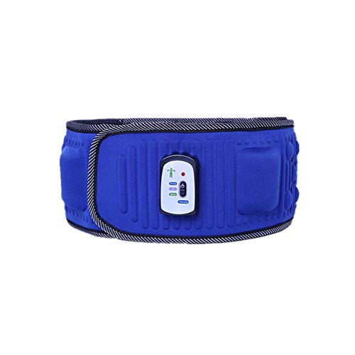 Weight Loss Massager Body Slimming Belt, Electric Vibration Fitness Massager Machine Anti Cellulite Dissolve Lose Weight Burning Fat for Shape Body,Blue