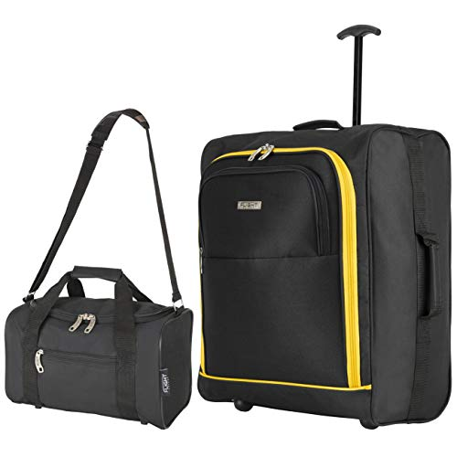 Flight Knight easyJet Maximum Set of Cabin Suitcase 56x45x25cm and Carry On Hand Luggage British Airways, Jet2 Largest Cabin Size Approved