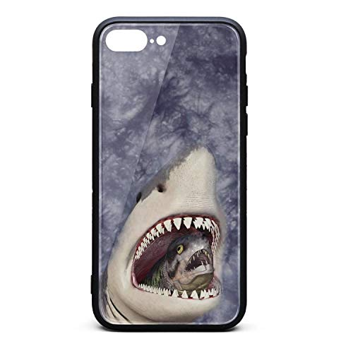 LQIAO Shark Tie Dyeing Seabed Lorenzo iPhone 7 Plus/8 Plus Cases Slim Shock-Absorbing Cell Phone Case Novelty