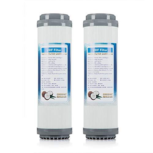 Carbón Activado Granular UDF, Adecuado para Filtro Agua Estándar de 10 Pulgadas, Filtro Agua de Repuesto, Accesorios Filtro de Agua Potable Directo (2 Paquetes)