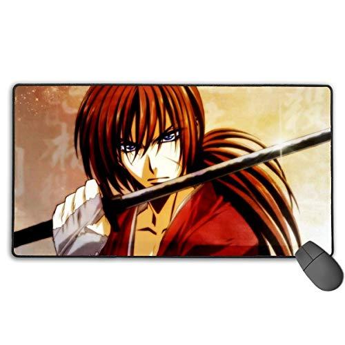 Tragbares Gaming-Mauspad mit Rutschfester Gummibasis, Premium-strukturierte Magic-Mausmatten, optimiert für Spielerreisen, Rurouni Kenshin Manga Himura Kenshin-Hauptcharakter Fanart