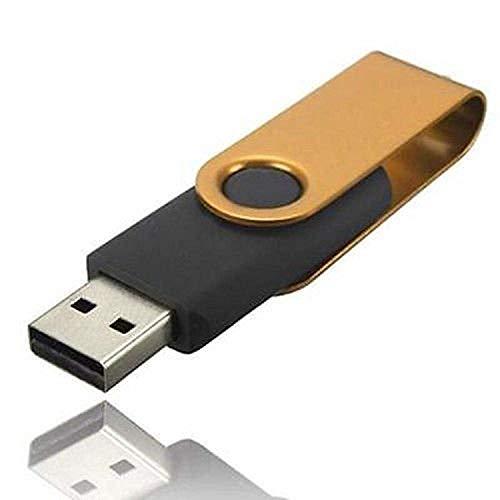 Memoria USB, memoria flash Drive disco de almacenamiento de datos externo con diseño giratorio, almacenamiento en Jump Drive (1TB, Yellow)