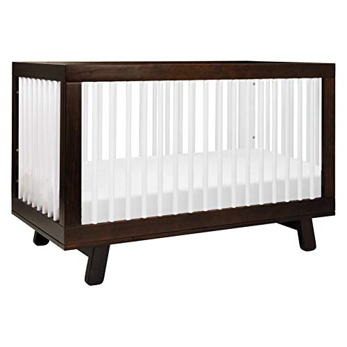 Babyletto Hudson 3-in-1 Convertible Crib with Toddler Bed Conversion Kit in Espresso / White, Greenguard Gold Certified