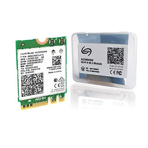 インテル Intel Wi-Fi 6 AX200 AX200NGW Wi-Fi 6 802.11ax + Bluetooth 5.0 M.2/NGFF ワイヤレスカード