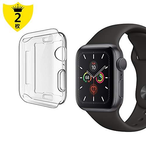 【2枚 セット】Alinsea Apple Watch Series 5/Series 4 44mm ケース 全面保護 Apple Watch Series 5/Series 4 44mm フイルム 柔らかい 超薄型 全面フルカバー TPU 全面保護ケース アップルウォッチ44 ケース Apple Watch Series 5/Series 4(44mm)に対応の詳細を見る