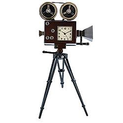 TM Vintage Movie Camera Miniature Ornamental Novelty Collectors Desk Clock TM27