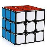 D-FantiX YJ Guanlong Speed Cube yj 3x3 Magic Cube 56 mm Black Puzzles Toys for Kids Adult