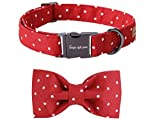 Unique style paws Collar para perros con pajarita extraíble, collar para perros pequeños, medianos y grandes, collar ajustable XXS-XL