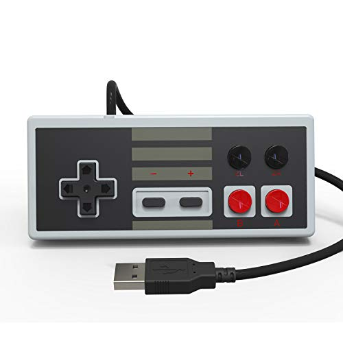 Delta essentials Wired Controller Gamepad for Nintendo Switch PC Compatible with Classic NES Games on Switch