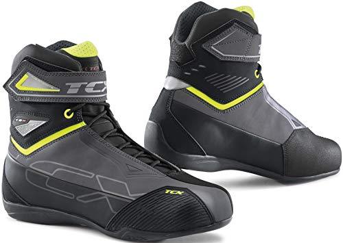 TCX 9507w Rush 2 Wp - Botas de moto, hombre, talla 47 EU, gris/amarillo