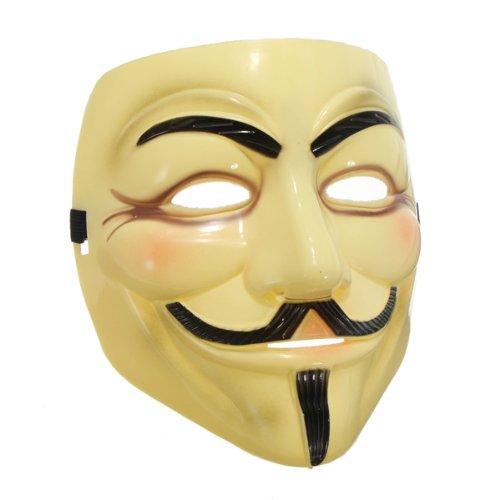 Guy Fawkes Maske V wie for Vendetta Mask Anti ACTA Bewegung (gelb)