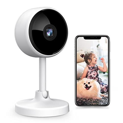 Überwachungskamera innen, [2021 Neu] Crzwok 1080P WLAN Kamera, Hundekamera mit 2-Wege Audio Babyphone mit Kamera, Bewegungserkennung, Alexa Kamera mit Nachtsicht für Haustier