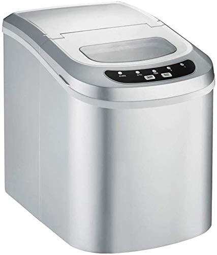 QIYUE IJsmachine, Home desktop IJsmachine, ijs maken 15Kg binnen 24 uur, Ice Machine Automatische Household Small Ice Machine (zilver)