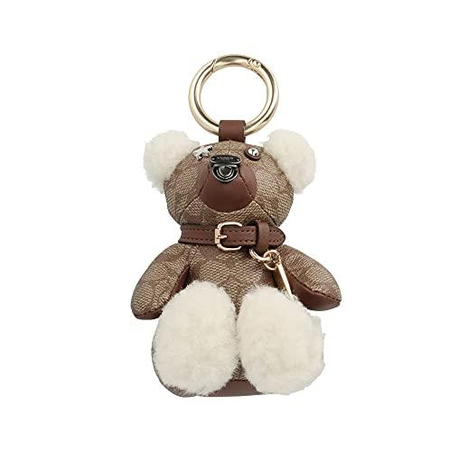 [コーチ] キーホルダー ベアー チャーム キーフォブ COACH Signature Teddy Bear Charm Key Fob F77676 GDKHA [並行輸入品]