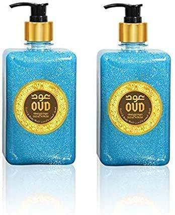 Lot de 2 Savons et Gels Douche Parfumerie 500ml Très Haute Qualité Arabe Orientale Unisex (Oud Musc)