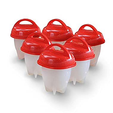 Egglettes Egg Cooker - Hard Boiled Eggs without the Shell, 6 Egg Cups