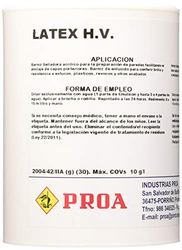 LATEX PROA. Imprimación al agua para paredes.
