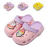 Kids Unicorn Clogs Boys Girls Slippers Summer Kids Lightweight Sandals Shockproof Garden Shoes Slip on Water Pool Beach Slipper