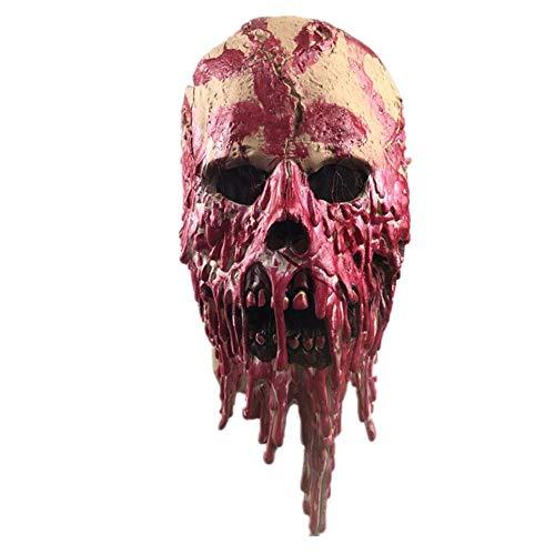 Geisterhaus Dripping Blut Rot Latex-Masken-Halloween Scorpion Geist Detective Zombie Walking Dead Zombie-Teufel-Maske - Bunte