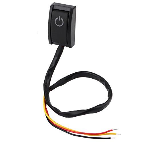 Interruptor de botón de encendido y apagado de 12 V CC, interruptor de botón adhesivo para coche con adhesivo de doble cara