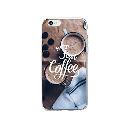 Funda para iPhone 11 Pro 5 5S SE 6 6S 7 7 Plus 8 8 8 Plus X XS Max Ok but First Coffee Cappuccino transparente suave funda para teléfono móvil