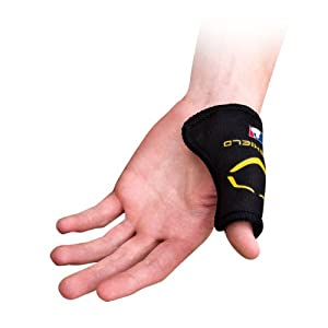 Catcher's Thumb Guard disperses impact to help protect thumb from injury or hyper-extension (including Gamekeeper's Thumb); Perfect for both elite catchers catching 90+ MPH and youth catchers new to the position Straight from the Pros; Official MLB A...