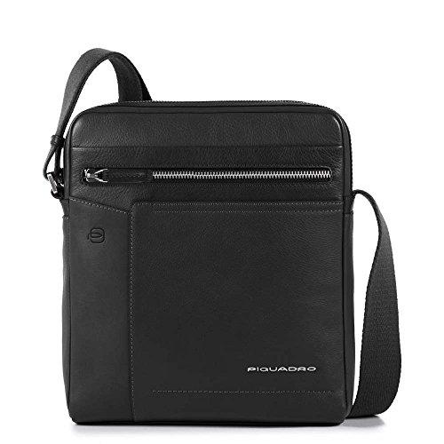 Piquadro Ca4111w82 - Bolso bandolera para hombre, color negro
