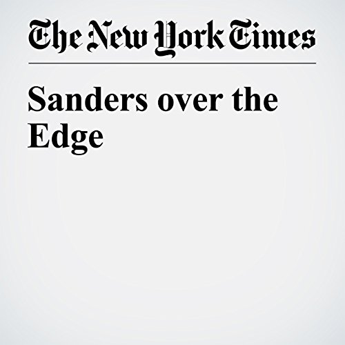 Sanders over the Edge cover art