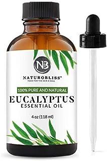 NaturoBliss 100% Pure Natural Undiluted Eucalyptus Essential Oil (4oz) Premium Therapeutic Grade Aromatherapy