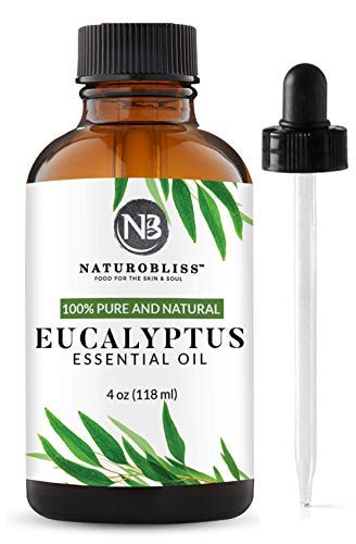 NaturoBliss 100% Pure Natural Undiluted Eucalyptus Essential Oil (4oz) Premium Therapeutic Grade Aromatherapy