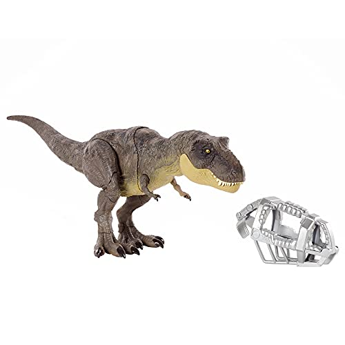 Jurassic World Stomp 'N Escape Tyrannosaurus Rex Figure Camp Cretaceous Dinosaur Escape Toy with Stomping Movements, Movable Joints, Authentic Deco, Kids Gift Ages 4 Years & Up