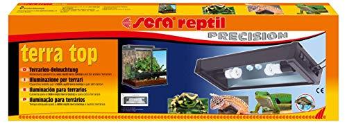 sera reptil terra top eine Terrarien Aufsatzleuchte mit zwei Stromkabeln für die separate Steuerung der Tag- & Nachtbeleuchtung, ideal passend zu dem sera reptil Terra biotop 60 Terrarium