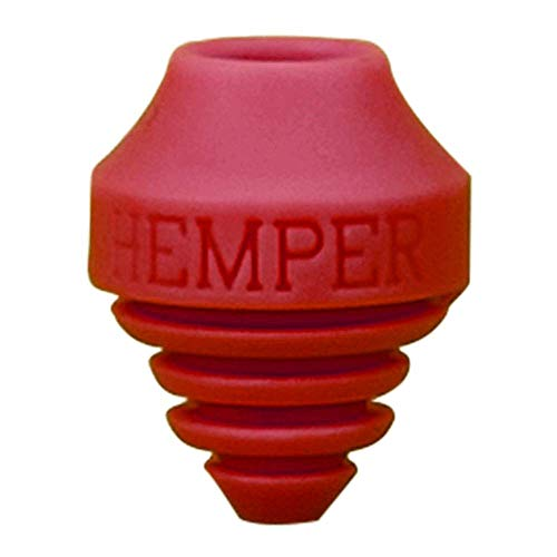 HEMPER A-Dab-TER | Silicone Vape Pen Adapter for Water Pipes | Round & Flat Tips (Red)