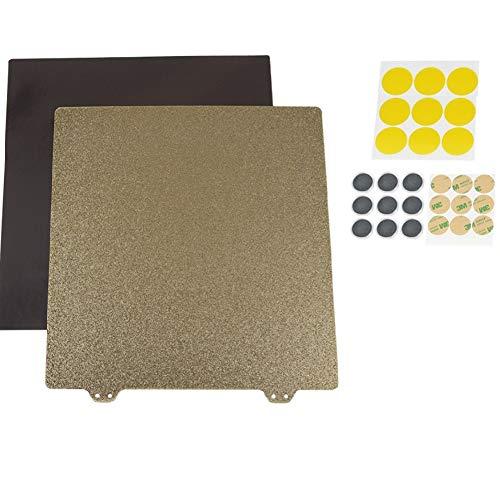 JFCUICAN 3D Accessoires imprimantes 300 * 300mm magnétique Flexible Hotbed Surface AB Côté chauffée Lit Autocollant avec Bloc magnétique Accessoires d'imprimante 3D