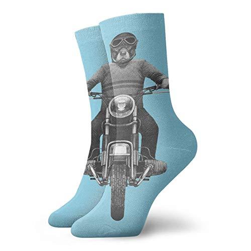 Calcetines de compresión de alta raza montar motocicleta aventurero scooter mejor para correr