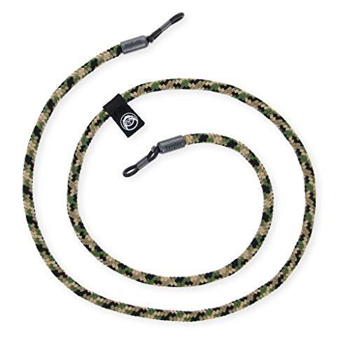 hangloo - Das hochwertige Brillenband | Name: Soldier Boy | Farben: Grün, braun und schwarz