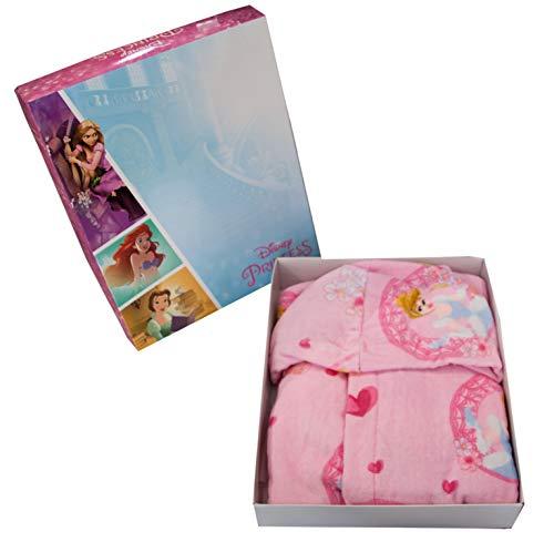 Albornoz con capucha original de Disney Princess años 2 3 4 5 6 7 100% rizo de puro algodón terciopelo niña (2/3 años)