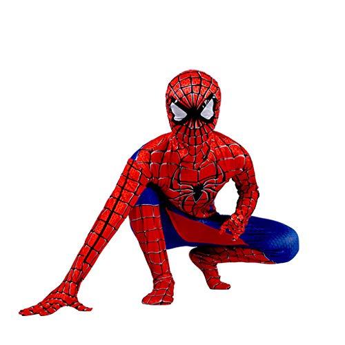 YeMao Body da Supereroe per Bambini Classic Spiderman Series 3D Halloween Cosplay Zentai Costumes Puntelli,C- 110~120cm
