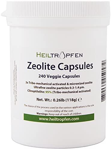 Heiltropfen Capsule di Zeolite 240 Pezzi   Zeolite Clinoptilolite 95%   3X attivato   Polvere Minerale Naturale Inferiore a 2 µm