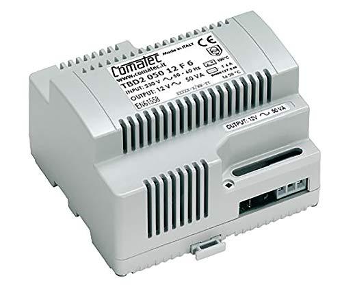 Comatec Carril–Transformador, transformador, art. TBD205012F6, 50VA, 12VAC, TBD2 050 12 F6, 0
