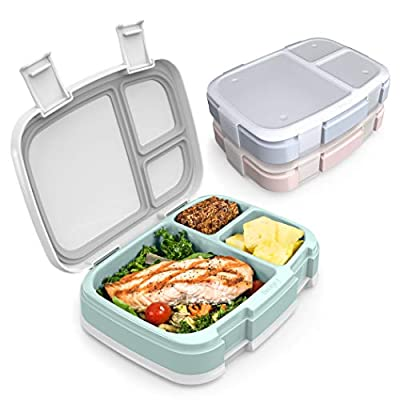 Bentgo Fresh 3-Pack Meal Prep Lunch Box Set - Reusable 3-Compartment Containers for Meal Prepping, Healthy Eating On-the-Go, and Balanced Portion-Control ? BPA-Free, Microwave & Dishwasher Safe