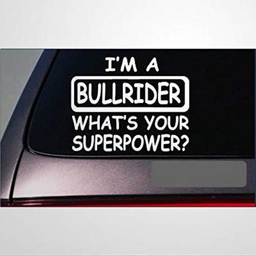 Bullrider Superpower Auto-Aufkleber, Vinyl-Autoaufkleber, Dekoration für Fenster, Stoßstange, Laptop, Wände, Computer, Becher, Tasse, Telefon, LKW, Autozubehör