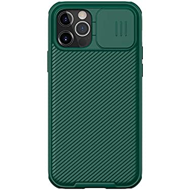 """Nillkin Case for Apple iPhone 12 / Apple iPhone 12 Pro (6.1"""" Inch) CamShield Pro Camera Close & Open Double Layered Protection TPU + PC Dark Green Color"""