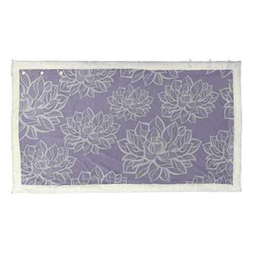 Mooie lotusbloemen patroon dames sjaal wikkelen meisje sjaal en wraps 53 x 30 inch met 3 knoppen voor bank in de vrije wikkeling sjaal sjaal wikkelsjaal voor vrouwen